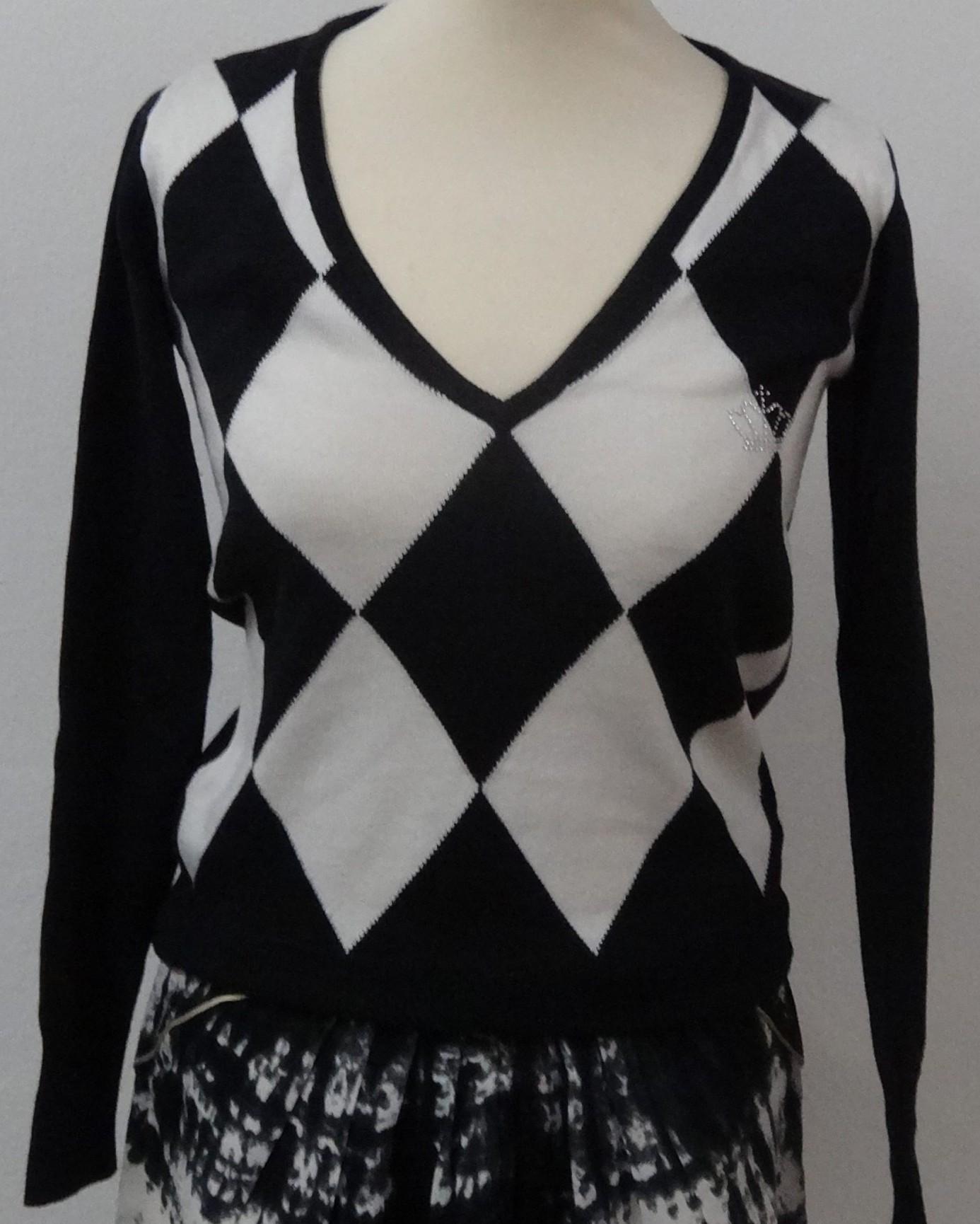 78d77f2279c Strikbluse med harlekin tern - Care & Share Vintage