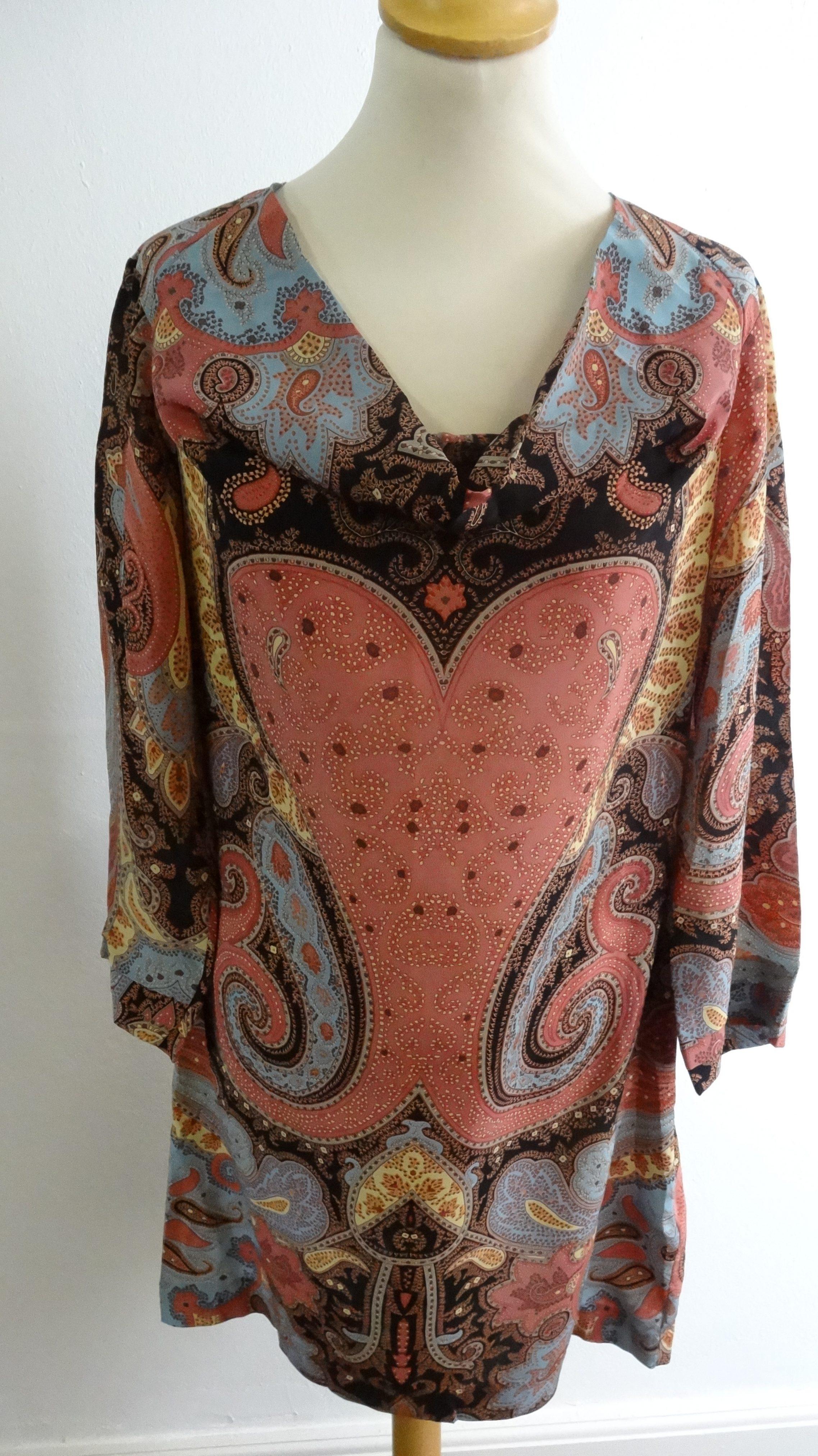 fa7dc463a51c Dansk) Margit Brandt kjole tunika - Care   Share Vintage