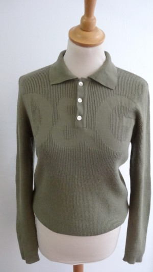 b9e2be1411e Lambswool strikbluse - Care & Share Vintage